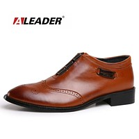 Men Slip On Formal Dress Shoes Genuine Leather Casual Shoes For Men Slip On Men Flats Oxfords Sapatos