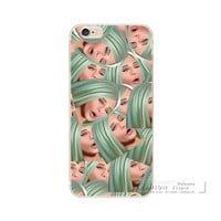 Kim Kardashian Funny Face Kimoji Soft Silicone Case For Apple iphone 6 6S Plus 5 S SE 5C TPU Phone Back Cover Coque For iphone 7