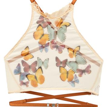 Butterfly Beauty Printed High Neck Cami