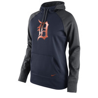 Detroit Tigers Nike Women's All Time Performance 1.5 Pullover Hoodie – Navy Blue