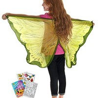 Douglas Toys Dreamy Dress-Ups 50584 Green Fairy Wings with Coloring Book