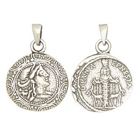 Artemis Diana Greek Goddess of Moon and Hunt Olympians Pewter Pendant Charm Unisex Necklace 1H