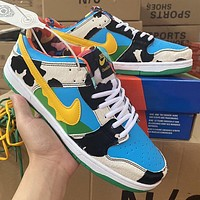 Nike SB Dunk Low Pro new color block men's and women's casual low-top sneakers Shoes