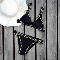 2016 Hot Pupular Women's sexy crochet black bikinis brazilian triangl bikini set = 1955873796