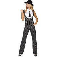 Sexy Pin Up Gangster Girl Halloween Costume