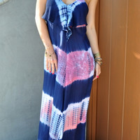 Tie Dye Maxi Dress - FINAL SALE