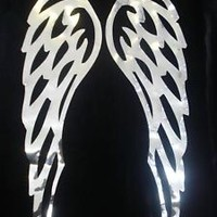 MIRROR SIL ANGEL WING L IRON-ON transfer APPLIQUE PATCH