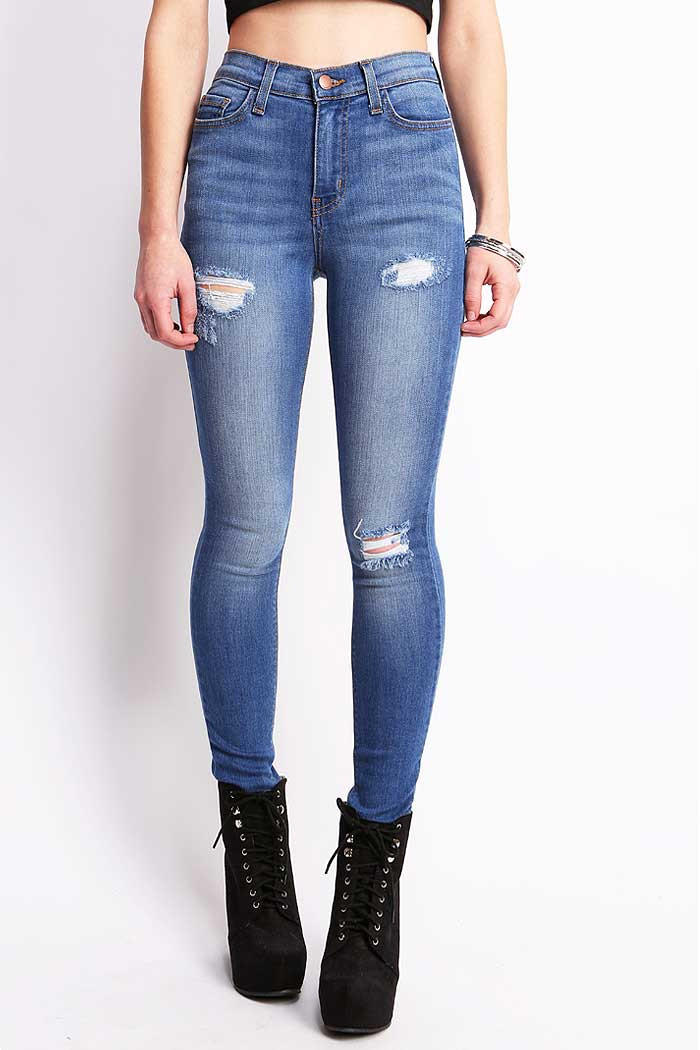 Image of Perfect Fit High Waist Skinny Jeans