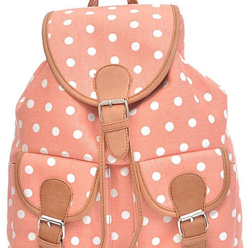 Simple Dotted Backpack - FINAL SALE