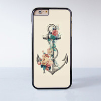 Anchor  Flower Plastic Case Cover for Apple iPhone 4 4s 5 5s 5c 6 6s Plus