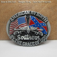 Blood Stained Banner Cowgirl Metal Belt Buckle Texas Fashion Mens Western Badge Feathers Native Avengers