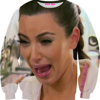 KIM CRYING SWEATER
