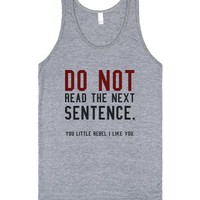 Do not read tank top tee t shirt-Unisex Athletic Grey Tank
