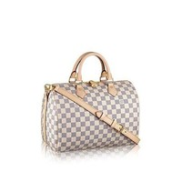 Louis Vuitton Damier Azur Canvas Speedy Bandouliere 30 N41373