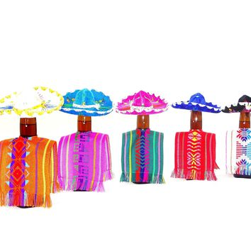 Mini Poncho Bottle Covers 5x12 Inches, Set of 20 BCC90