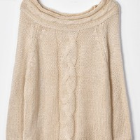 Cupshe As Warm As Spring Off The Shoulder Sweater