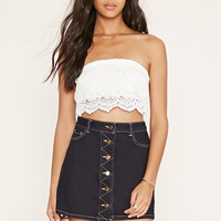 Strapless Crochet Crop Top | Forever 21 - 2000171596