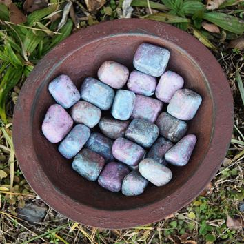 RUBY KYANITE Tumbled Stone - Root, Heart & Throat Chakra Stone