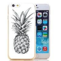 1297-HOQE pineapple Transparent Hard Case Cover for iPhone 6 6s plus 5 5s 5c 4 4s Phone Cases