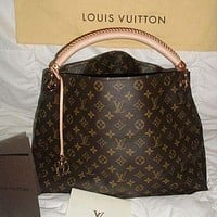 LV fashion more letter print leather shoulder bag crossbody bag handbag