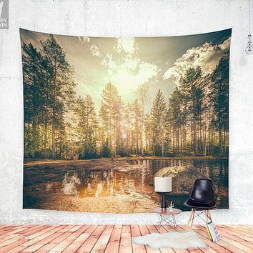 Sonne 2 Wall tapestry