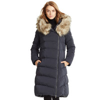 Detachable-Hood Down Coat