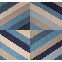 Sunnie Rug, Blue/Ivory, Area Rugs