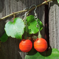 Paper Quilling Halloween Pumpkin Earrings - quilling jewelry, paper quilled earrings, paper earrings, earrings for girls, Halloween earrings