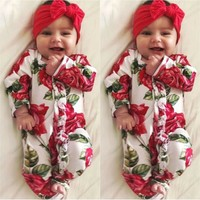 USA Toddler Kids Baby Girl Boy Bodysuit Romper Jumpsuit Outfit Clothes Set