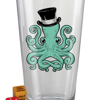 """""""Octopus"""" Pint Glass by Trixie and Milo"""