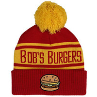 Bob's Burgers Red & Yellow Striped Knit Beanie Hat