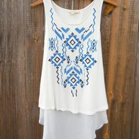 Embroidered Ways Tunic Tank Top