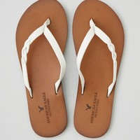 AEO BRAID LEATHER FLIP FLOP