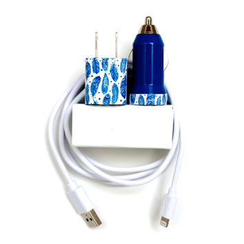 Light as a Feather iPhone Charger | Phone Accessory | cord/cable, portable USB charger mobile car charger | for iPhone 6 6s | iPhone 5s 5s 5