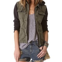 Free People Pieced Twill Jacket | SHOPBOP
