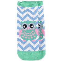 Chevron-Patterned Owl Socks