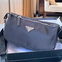 Prada Fashion New Women Men Shoulder Bag Crossbody Bag Black