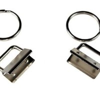 50 - Country Brook Design® 1 Inch Key Chain Fob Wristlet Hardware Set With Key Ring