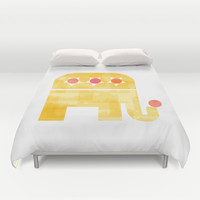 At circus Duvet Cover by Yasmina Baggili