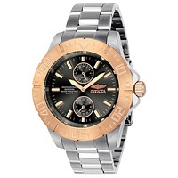 INVICTA Pro Diver Mens Watch - Stainless Steel - Rose-Tone Bezel - 200m