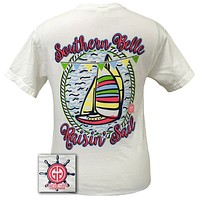 SALE Girlie Girl Originals Southern Belle Raisin Sail Comfort Colors Bright T Shirt