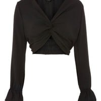 Twist Front Crop Top - Shirts & Blouses - Clothing