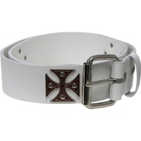 Belt Men's  Extreme Belt White Rockabilia