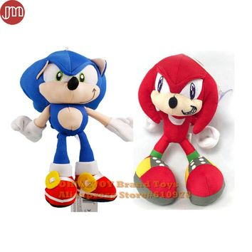 OHMETOY Sonic The Hedgehog Stuffed Plush Toys Soft Baby Dolls Red Blue Kids Children Gifts 19cm Anime Figure Brinquedos Juguetes