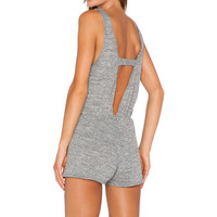 LNA Ale Tank Romper in Heather Grey