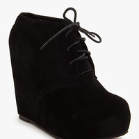 Camilla 1 Fx Suede Lace Up Wedge Boot
