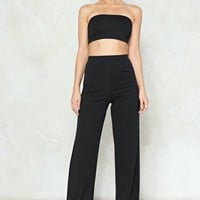 Bandeau & Wide Leg Pant Co Ord