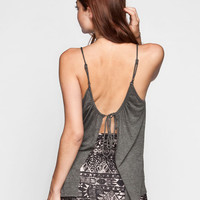 Rvca Forthright Bluff Womens Tank Black Haze  In Sizes