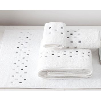 Minerva Embroidered Bath Towels by Dea Linens