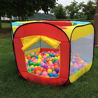 Play House Indoor and Outdoor Easy Folding Ocean Ball Pool Pit Game Tent Playhut Girls Garden Playhouse Kids Children Toy Tent